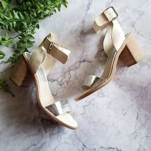 Dolce Vita | Ivory & SIlver Ankle Strap Sandals